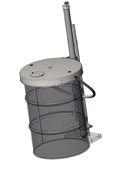 55 Gallon Elevator with Drum Lid only