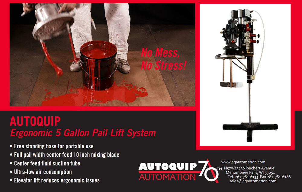 Autoquip Automation 5 Gallon Pail Lift System Ad