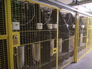 Electrostatic Mix Stations with Isolation Modules and Safety Fence